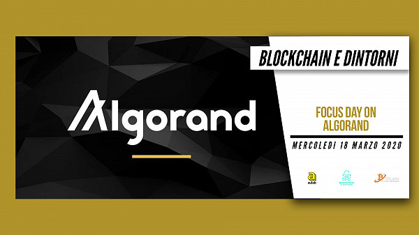 Blockchain e dintorni: Focus Day on Algorand